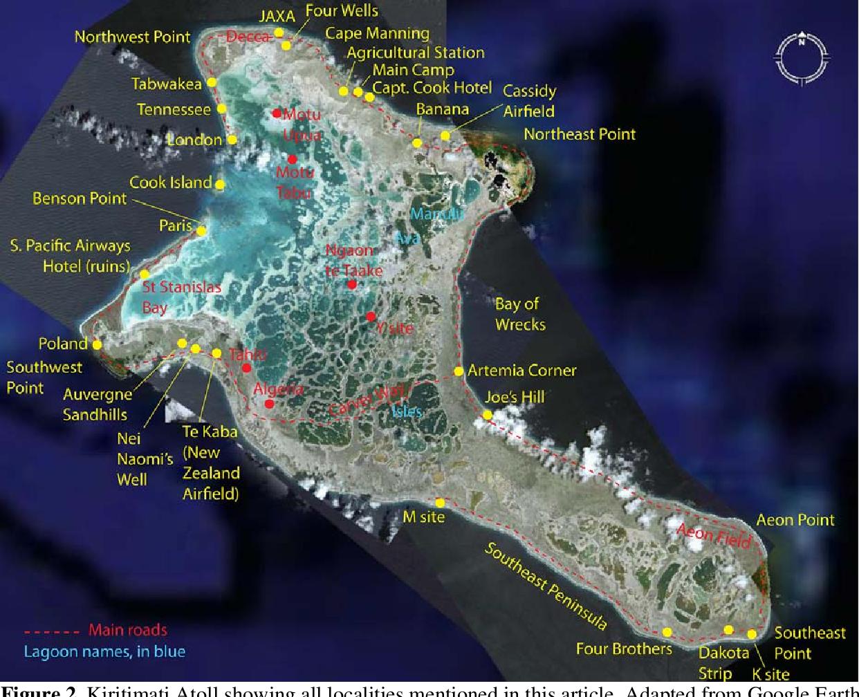Figure 2 from Flora of Kiritimati (Christmas) Atoll, Northern Line on oceania island map, fiji island map, niue island map, nikumaroro island map, santiago island map, azores island map, manila island map, islands of kiribati map, soberania national park map, kosrae island map, adelaide island map, kingman reef island map, auckland island map, rome island map, baker island map, winnipeg island map, taipei island map, rarotonga island map, efate island map, darwin island map,