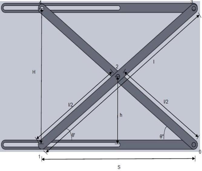 Figure 3 from Dynamic analysis of Scissor Lift mechanism