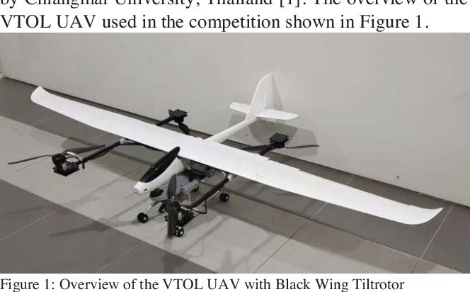 Development of UGS-TUM Vertical Take Off & Landing (VTOL