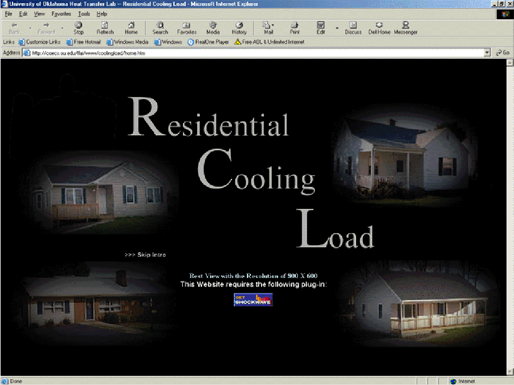 An online residential cooling load calculation program