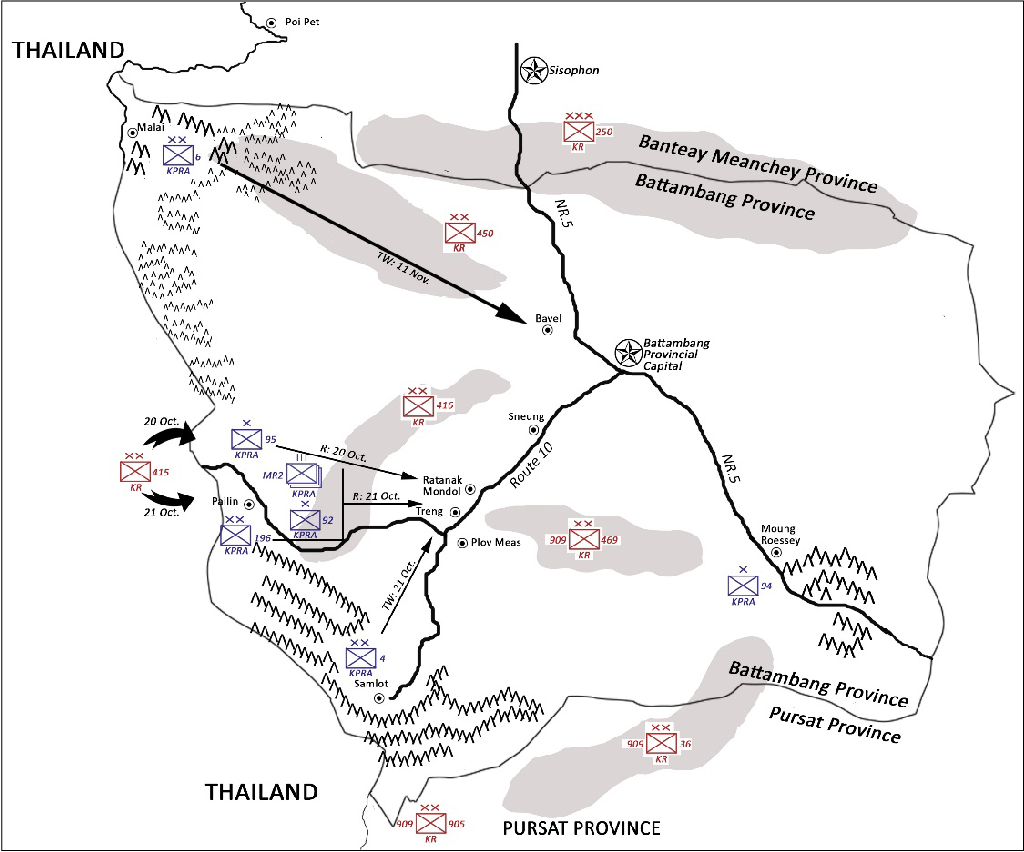 Figure 3. Operations in Battambang Province (1989)