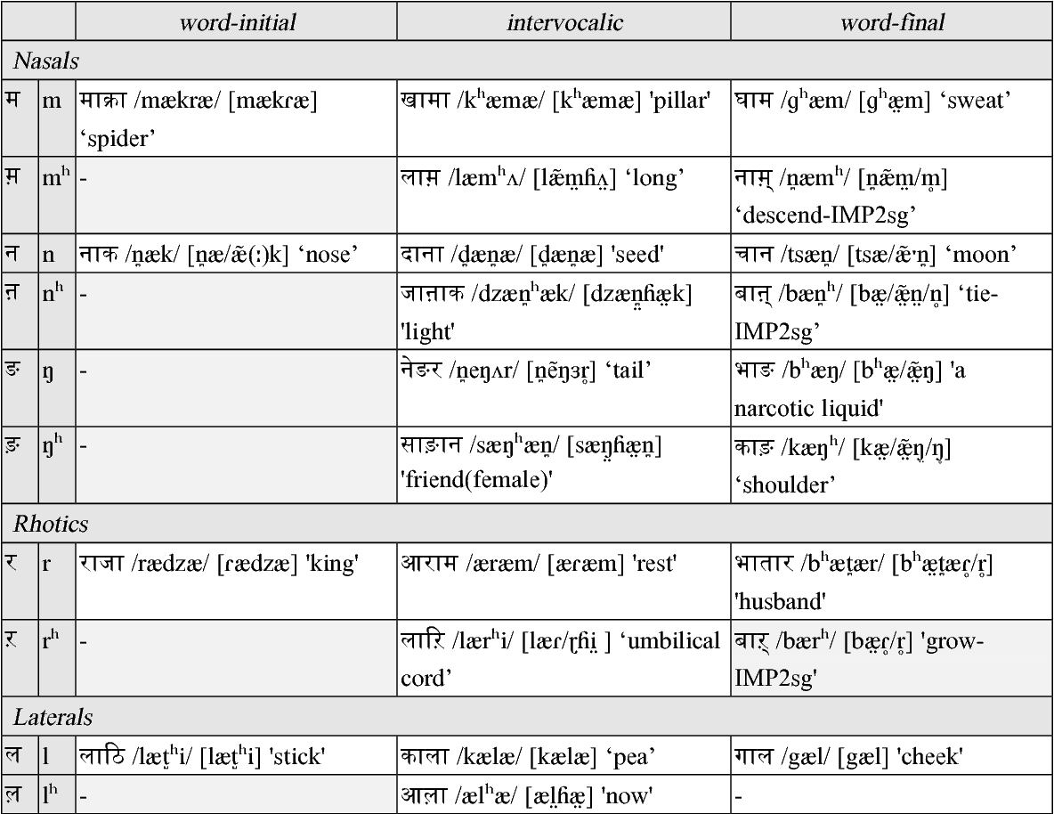 Language descriptions