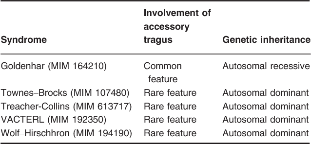 Review of accessory tragus with highlights of its associated