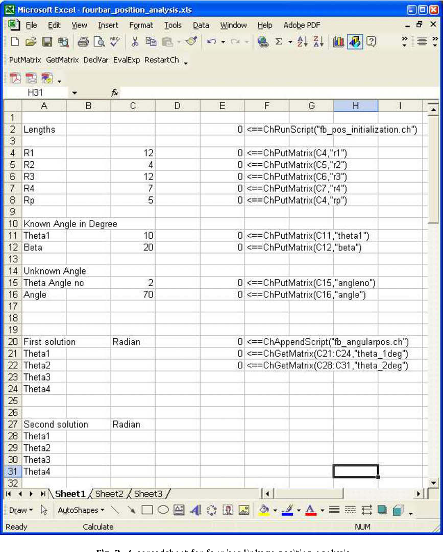 Spreadsheet-based interactive design and analysis of