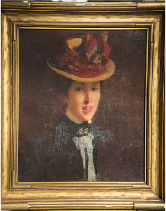 Figure 2. Portrait of Mary Foote (c. 1898) while a student in Paris and Giverny by Ellen Emmet Rand. Private collection, by permission.