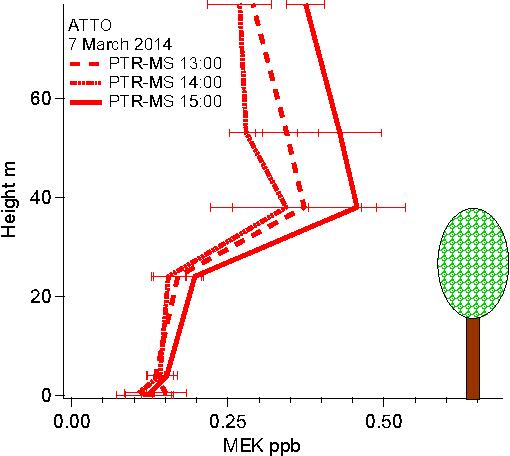 Figure 3 from Atmospheric mixing ratios of methyl ethyl