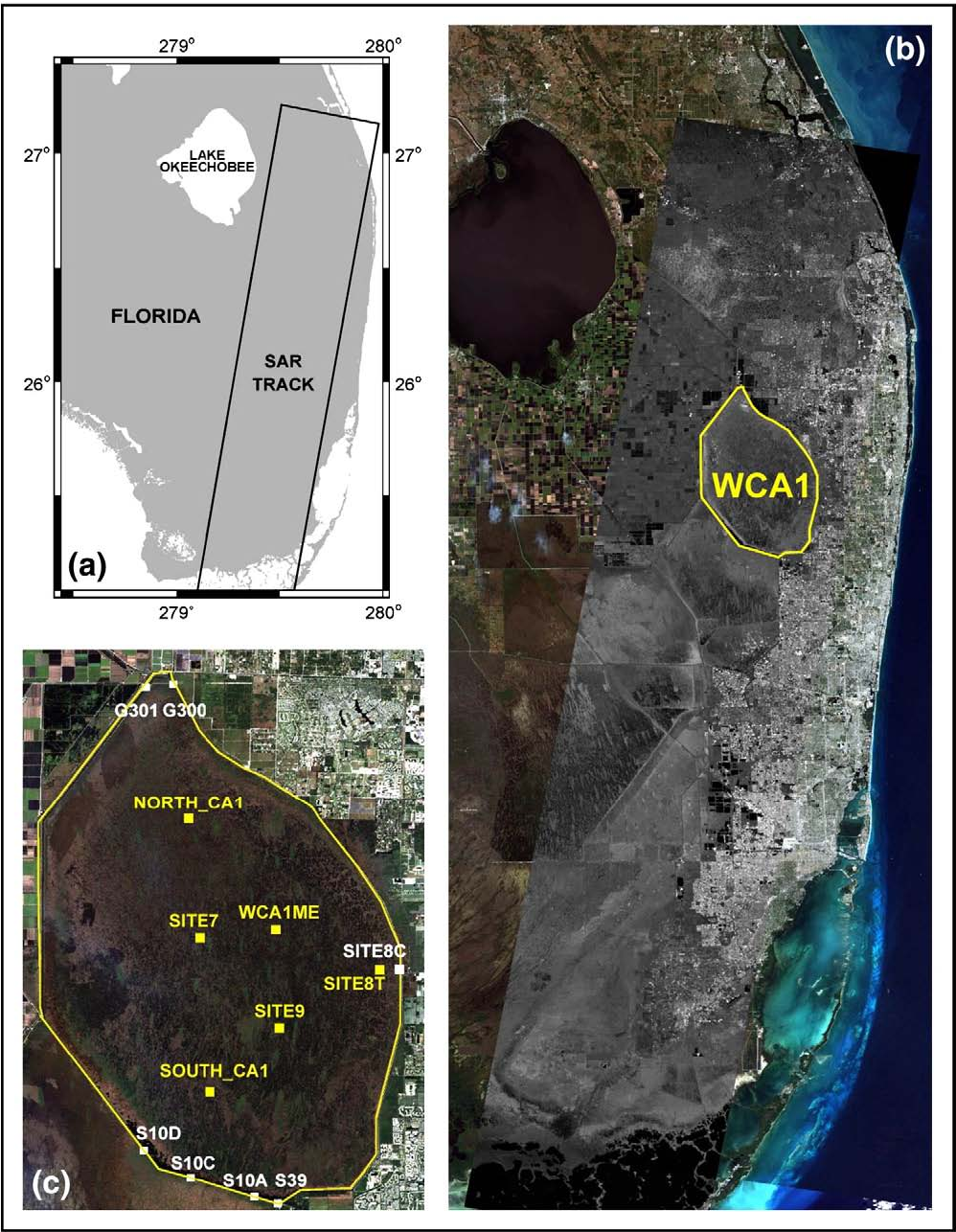 Figure 1 from Multi-temporal monitoring of wetland water ... on wetlands in florida on map, appalachian mountains on world map, wetlands on world map,