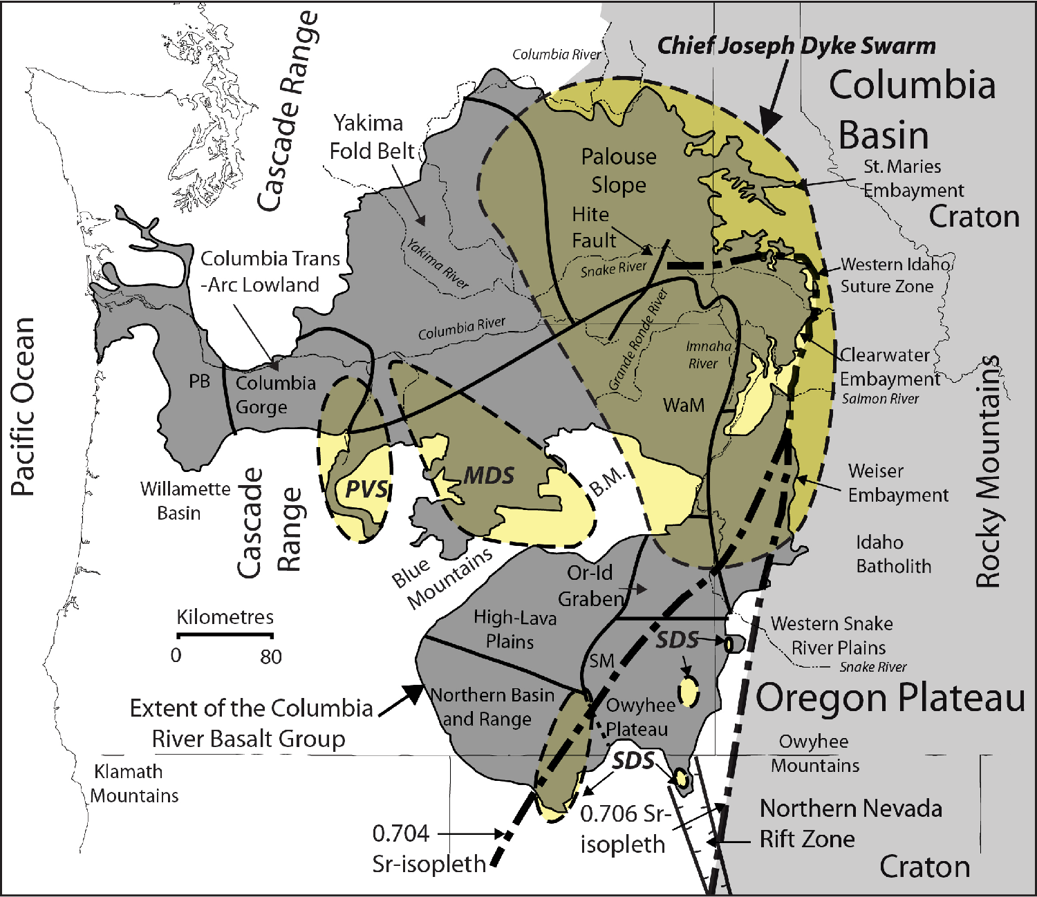 Image of: Figure 1 From Igneous Rock Associations 15 The Columbia River Basalt Group A Flood Basalt Province In The Pacific Northwest Usa Semantic Scholar