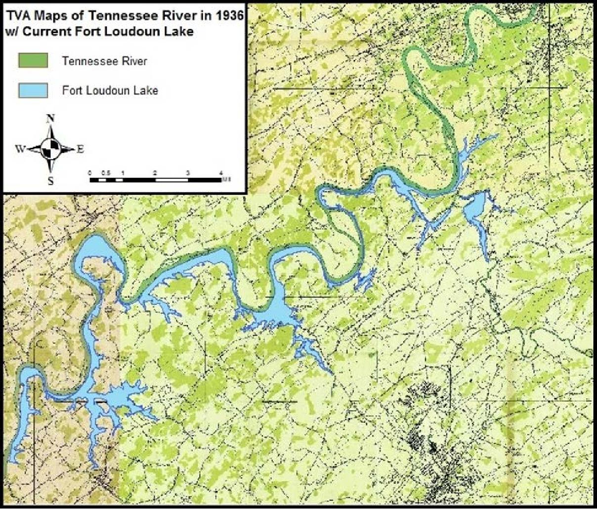 fort loudoun lake map Pdf Gis Analysis Of Impacts Of Tva Dams On Upstream Residential fort loudoun lake map