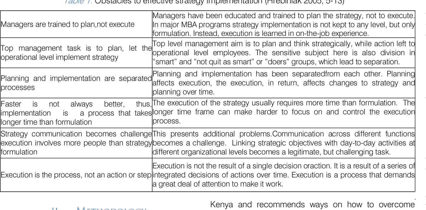 PDF] Barriers to Strategy Implementation by Mid Sized