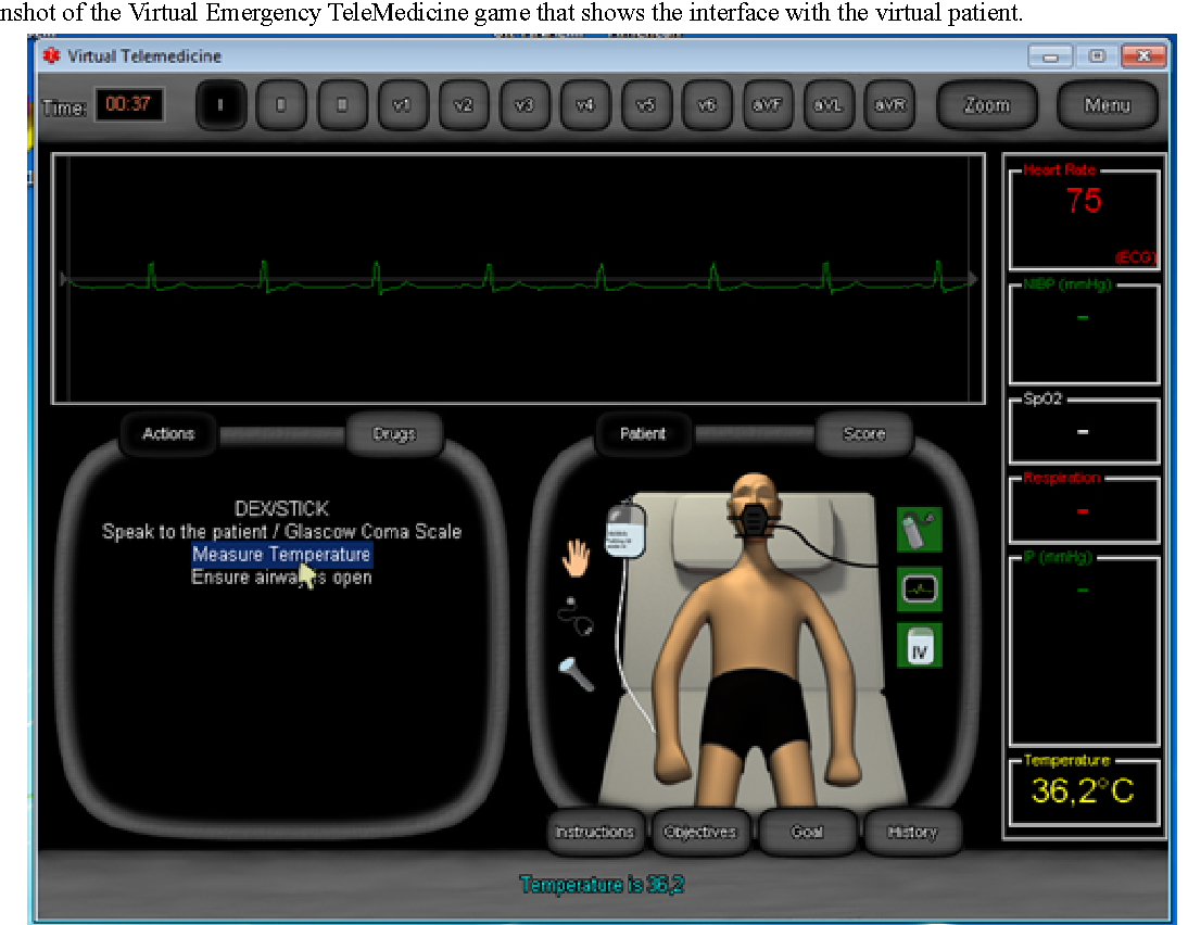 A Virtual Emergency Telemedicine Serious Game in Medical