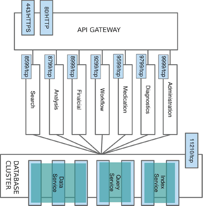 Scalable micro-service based approach to FHIR server with