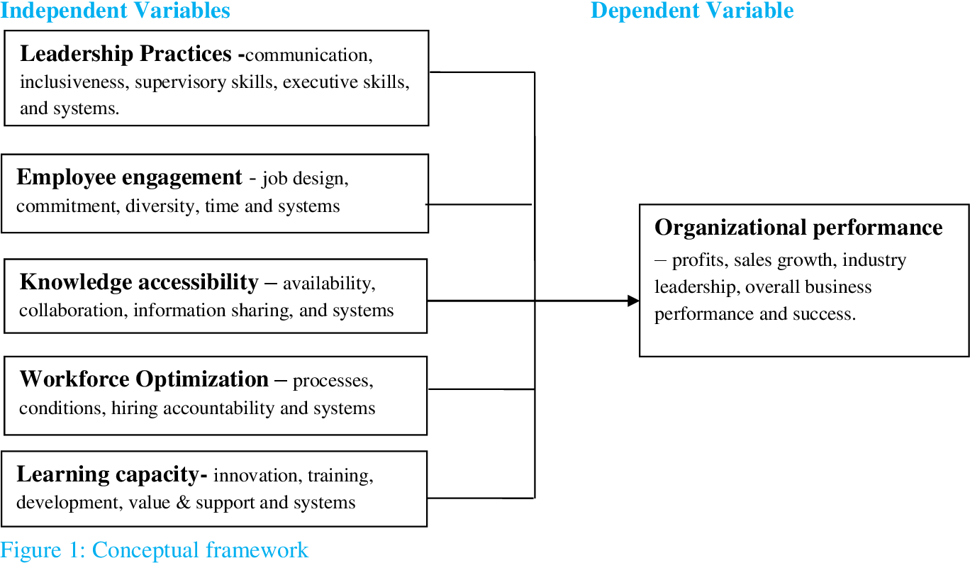 effect of human capital investment on organizational performance