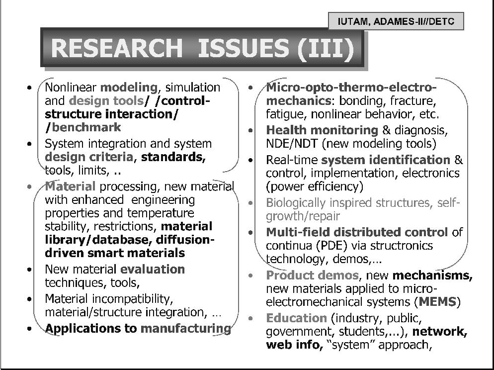 Smart Materials, Precision Sensors/Actuators, Smart