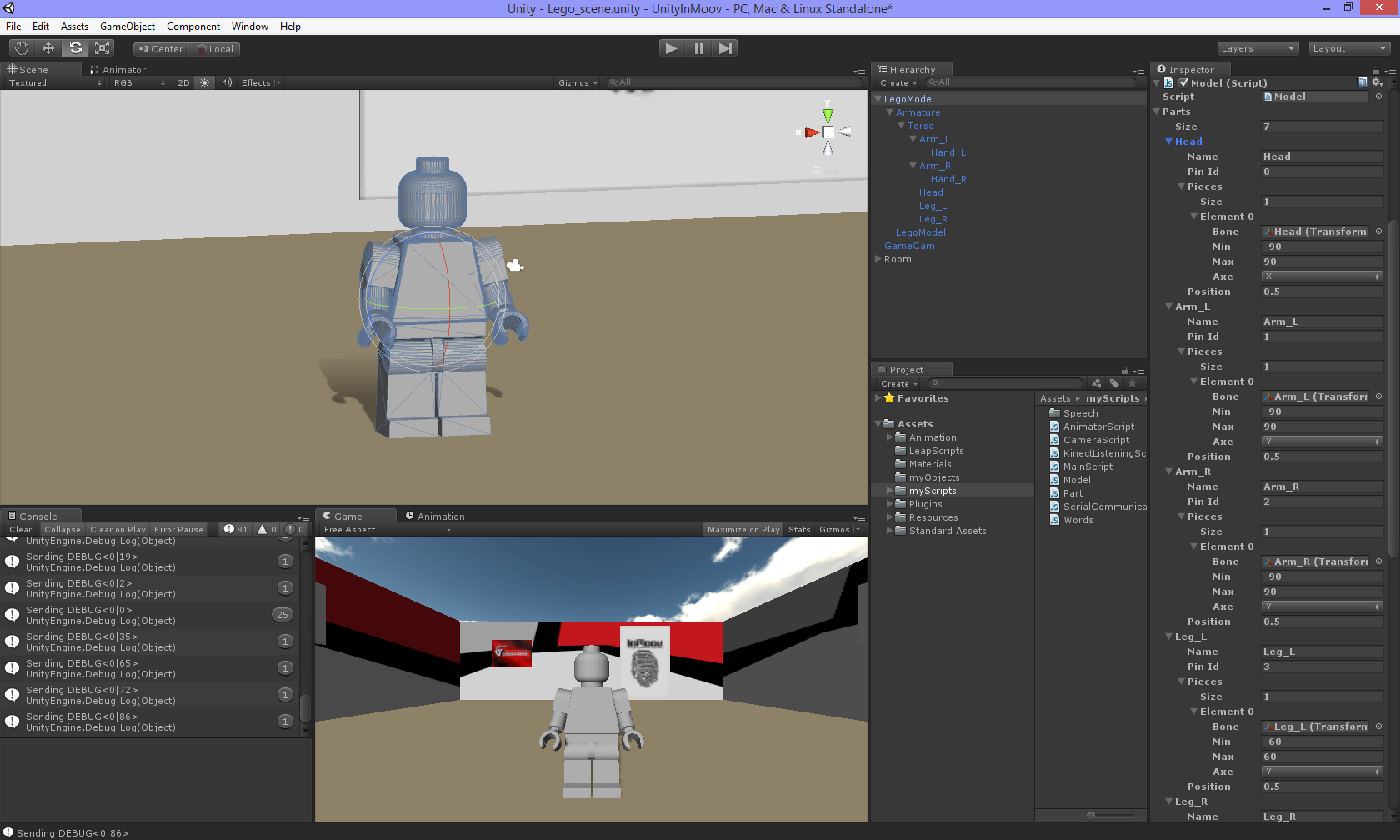 The robot engine — Making the unity 3D game engine work for