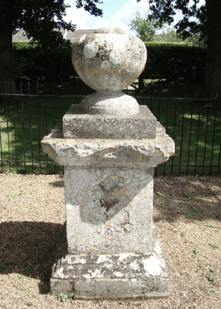 Figure 1. The Duel Stone, a small stone sculpture commemorating the death of Sir Henry Hobart following a duel at nearby Cawston Heath in 1698 (Image source: taken by author).
