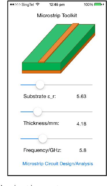 A Microstrip Circuit Tool Kit App with FDTD Analysis