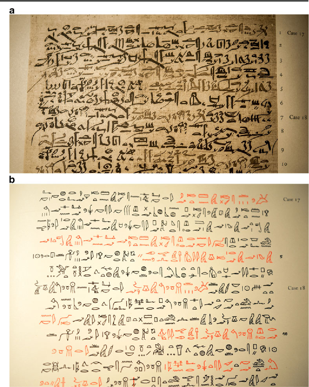 Figure 1 from On the myth of the Edwin Smith papyrus: is it