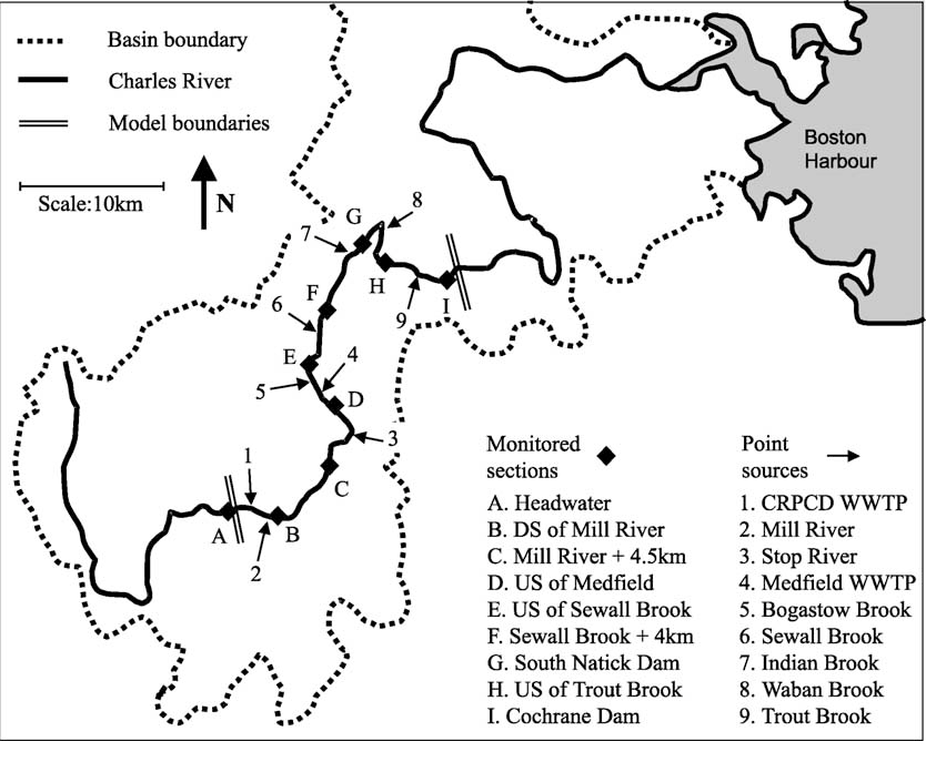 Risk-based modelling of surface water quality: a case study