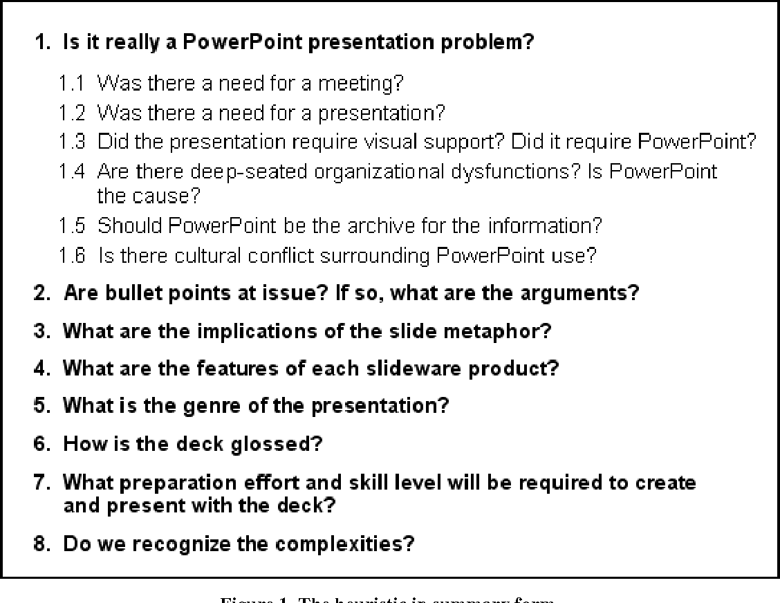 A Heuristic For Reasoning About Powerpoint Deck Design Semantic Scholar