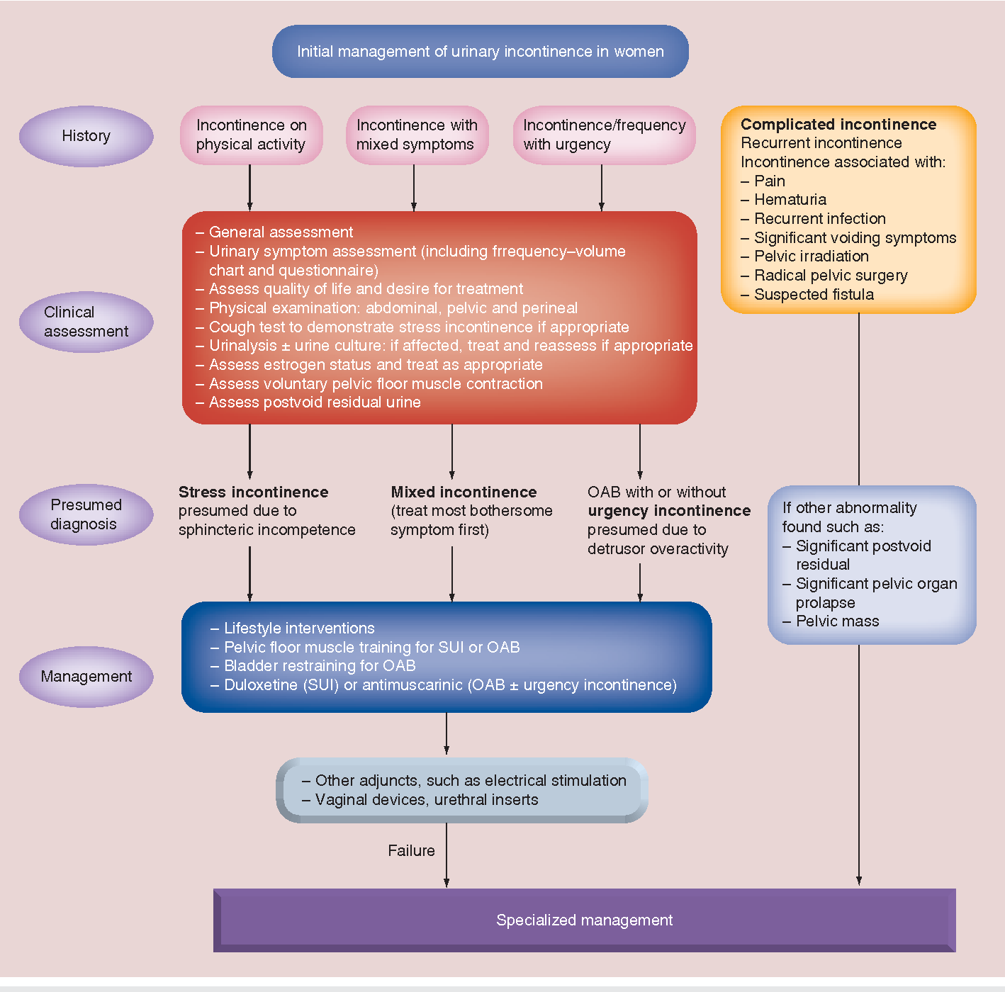 Urinary incontinence in the young woman: treatment plans and
