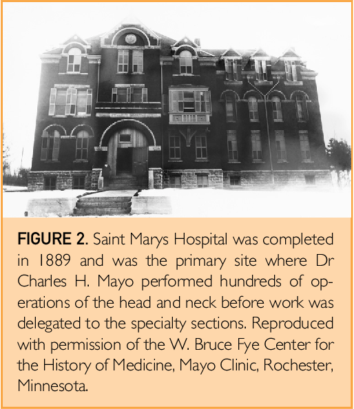 The History of Otorhinolaryngology at Mayo Clinic