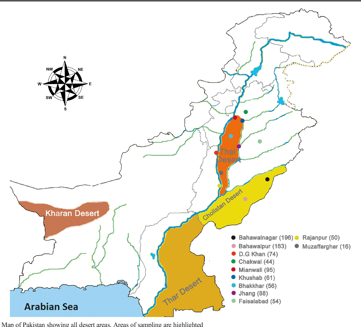 map of pakistan showing deserts Figure 1 From Seroprevalence Of Toxoplasma Gondii In One Humped map of pakistan showing deserts