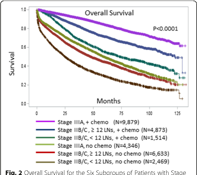 Figure 2 From Poor Survival In Stage Iib C T4n0 Compared To Stage Iiia T1 2 N1 T1n2a Colon Cancer Persists Even After Adjusting For Adequate Lymph Nodes Retrieved And Receipt Of Adjuvant Chemotherapy