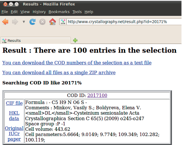 Figure 1 from Crystallography Open Database (COD): an open