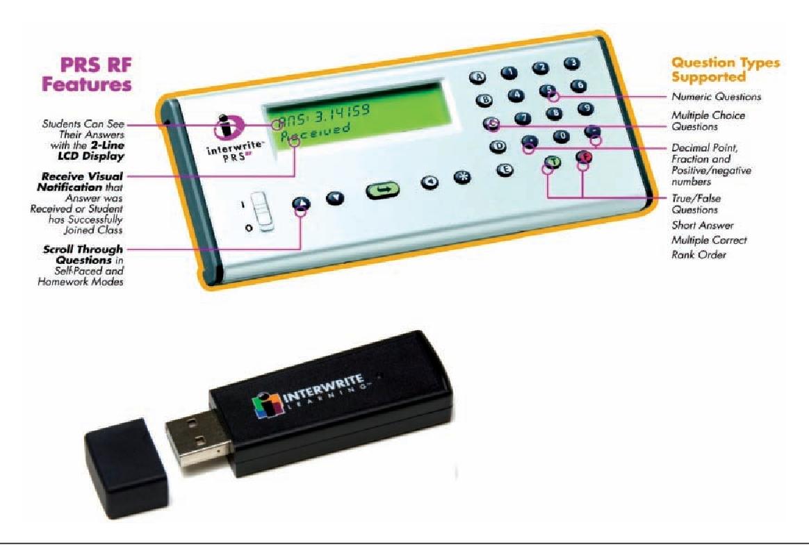 InterWrite PRS RF Personal Response System Student Remote