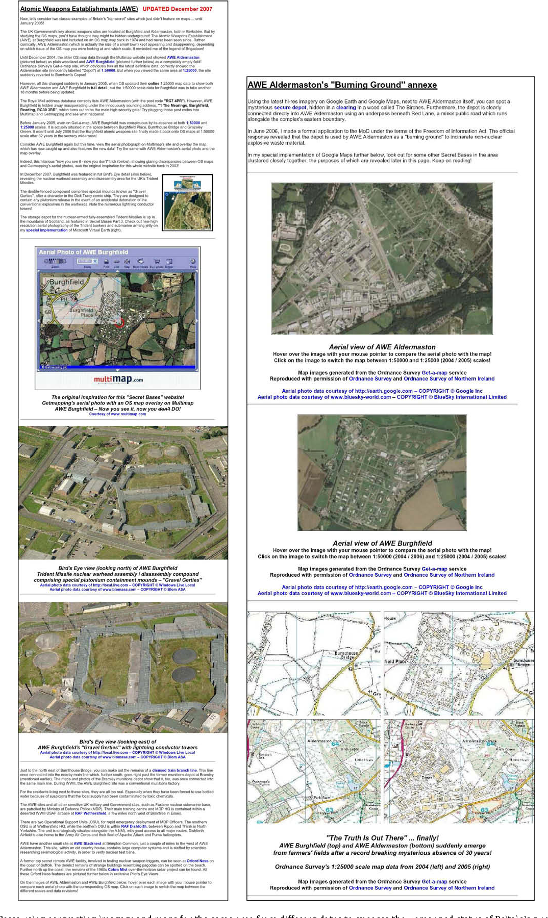 Satellite imagery and the spectacle of secret spaces