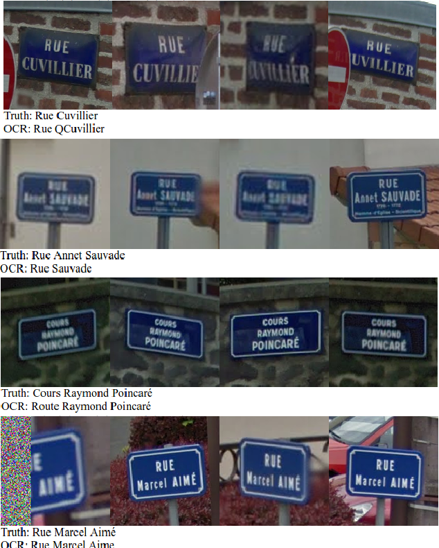 End-to-End Interpretation of the French Street Name Signs