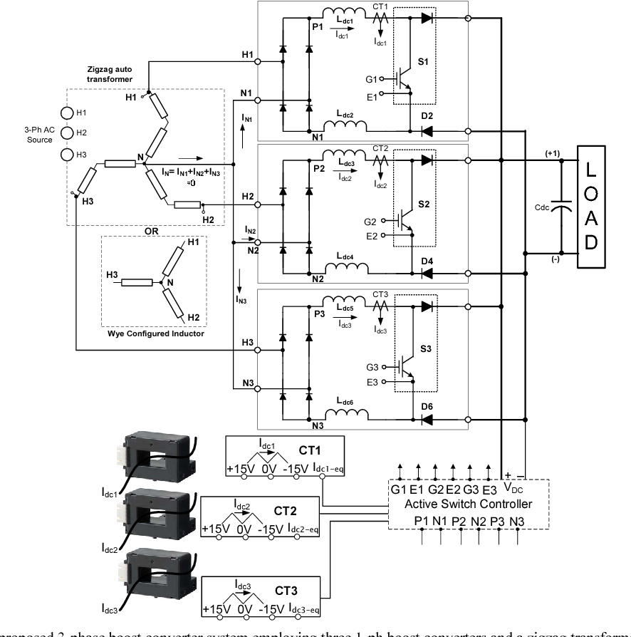 Figure 3 from Three, single-phase power factor correction (PFC ... on