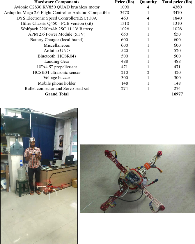 Table 3 from Monocular Imaging-based Autonomous Tracking for