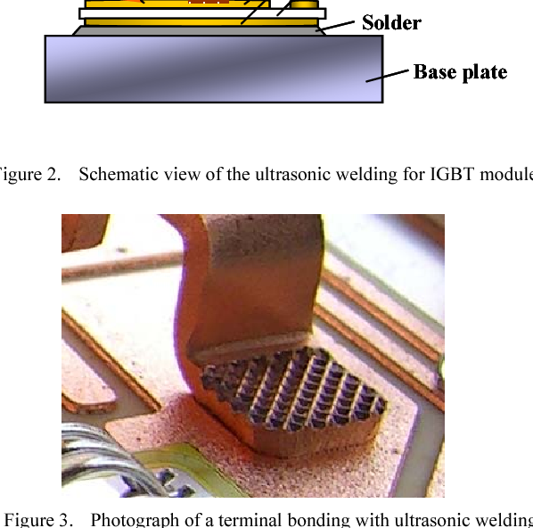 Figure 2 from Development of ultrasonic welding for IGBT ... on