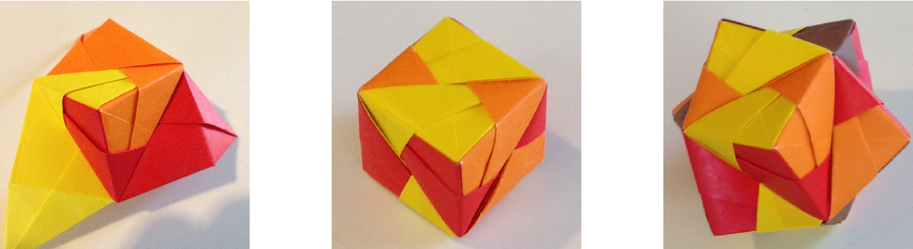 Origami Sonobe Octahedral Unit - YouTube | 350x1280