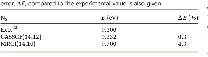 Table 4 from Ab initio calculation of inelastic scattering