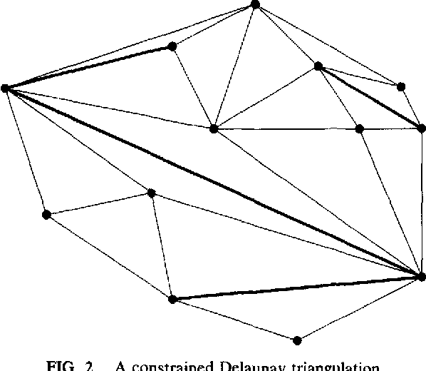 An on-line algorithm for constrained Delaunay triangulation