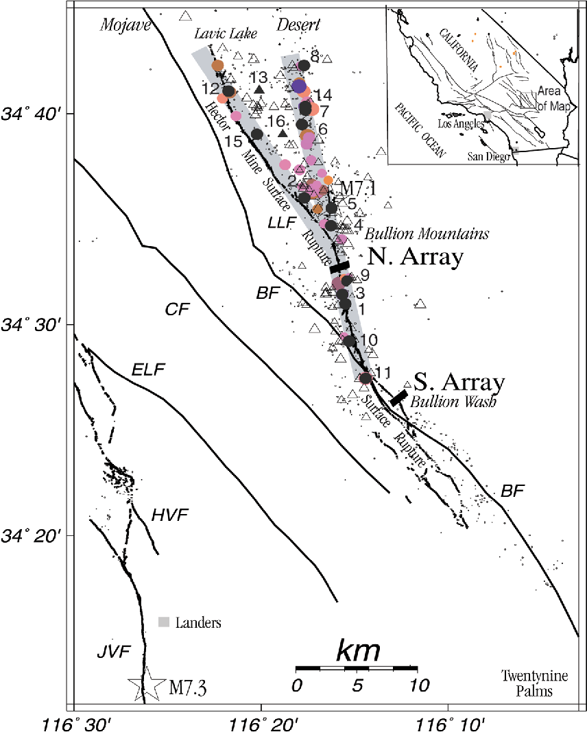 Figure 1 From Study Of The 1999 M 7 1 Hector Mine California Earthquake Fault Plane By Trapped Waves Semantic Scholar
