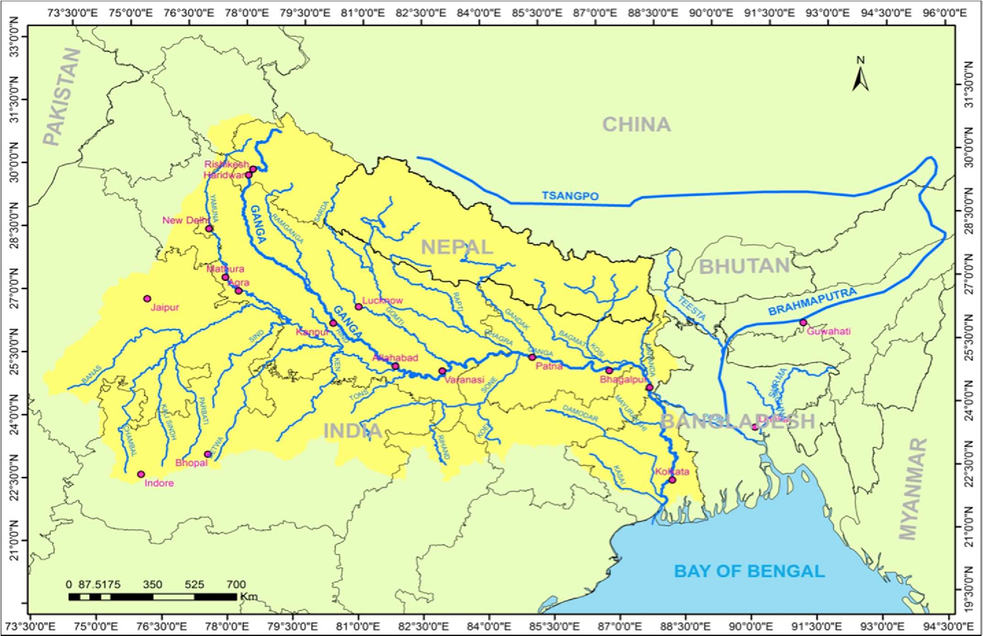 Figure 5 from Dynamic modeling of the Ganga river system ...
