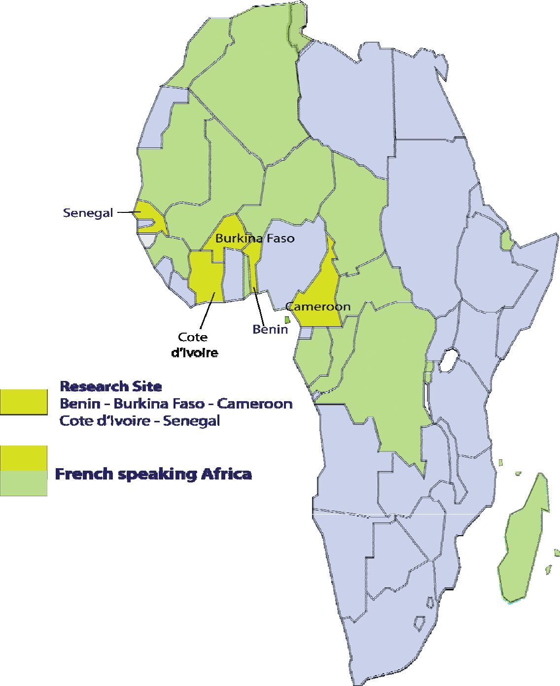 Map Of Francophone Africa.Pdf Transnational Television And Football In Francophone