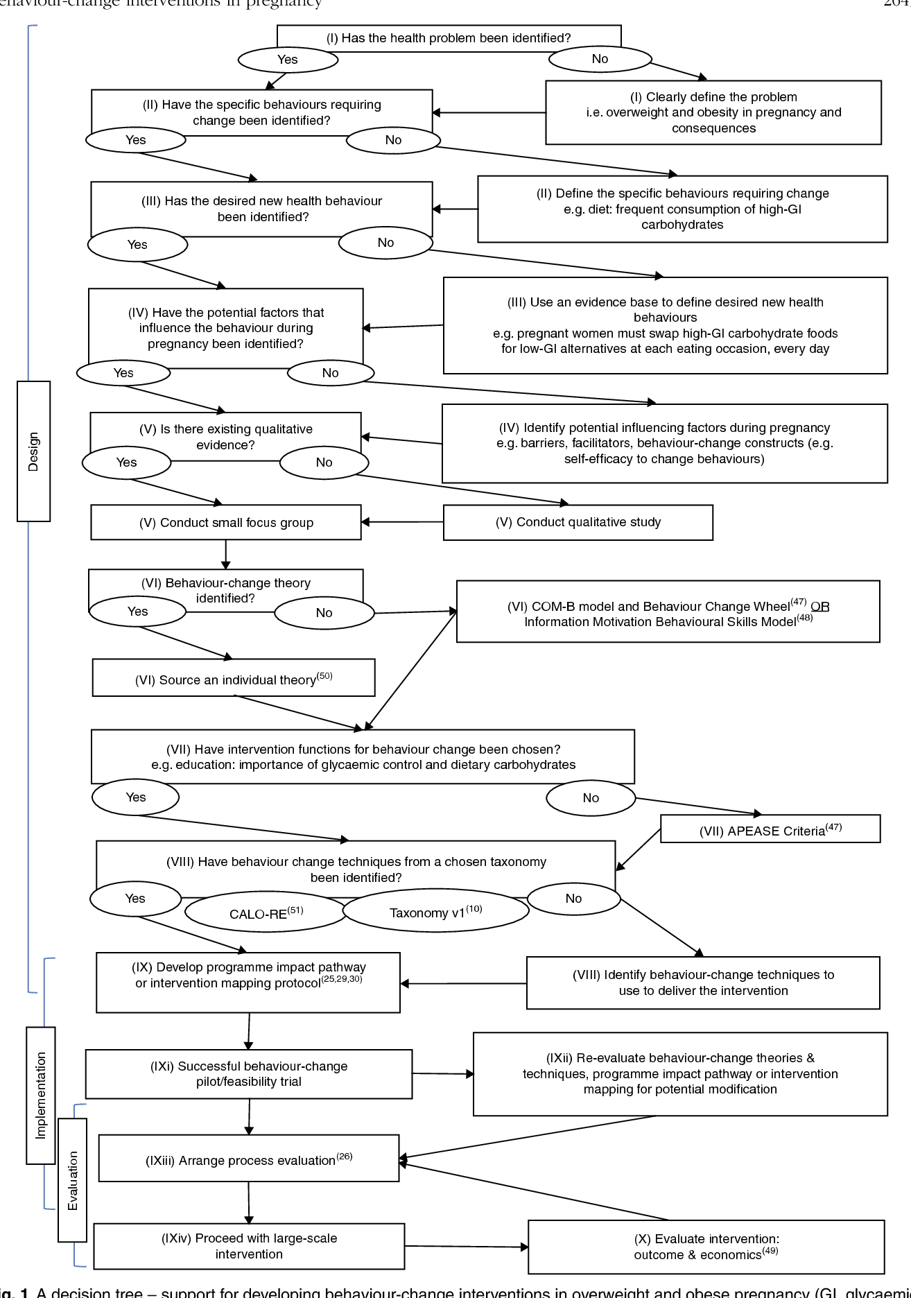 Pdf Behaviour Change In Overweight And Obese Pregnancy A Decision Tree To Support The Development Of Antenatal Lifestyle Interventions Semantic Scholar