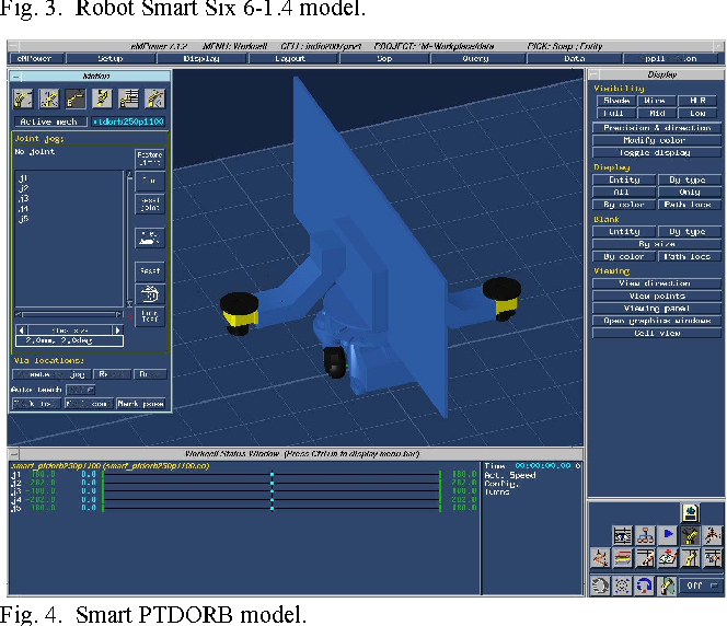 Off-line Programming and simulation for automatic robot