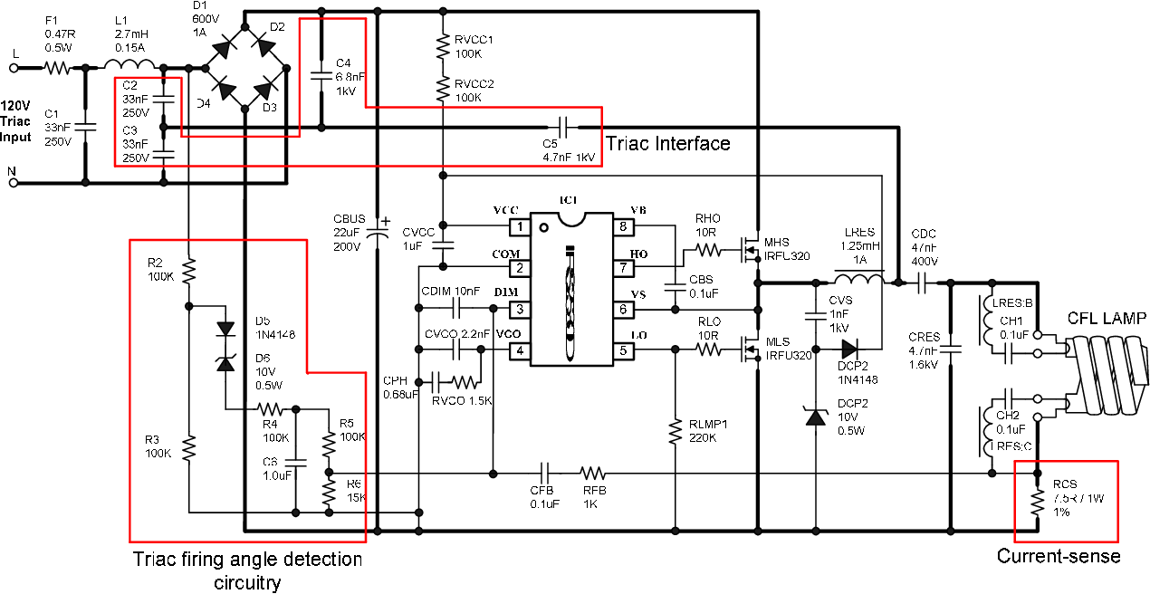 Simple triac dimmable Compact Fluorescent Lamp ballast and ... on switch schematic, diode schematic, smps schematic, relay schematic, mosfet schematic, capacitor schematic, transistor schematic, integrated circuit schematic, sensor schematic, vfd schematic, lcd schematic, inductor schematic, cpu schematic, power supply schematic, rectifier schematic, battery schematic, led schematic, plc schematic,