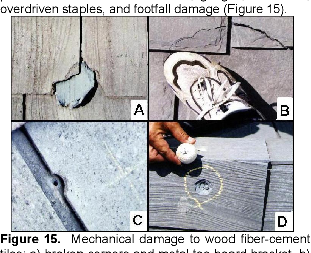 Figure 17 from P 9   2 HAIL DAMAGE TO TILE ROOFING