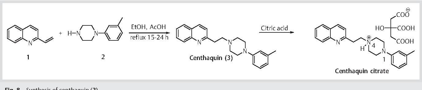 Synthesis and characterization of centhaquin and its citrate salt and a  comparative evaluation of their cardiovascular actions. | Semantic Scholar