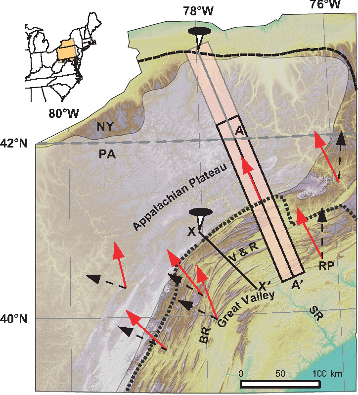 Figure 1 From Unraveling The Central Appalachian Fold Thrust