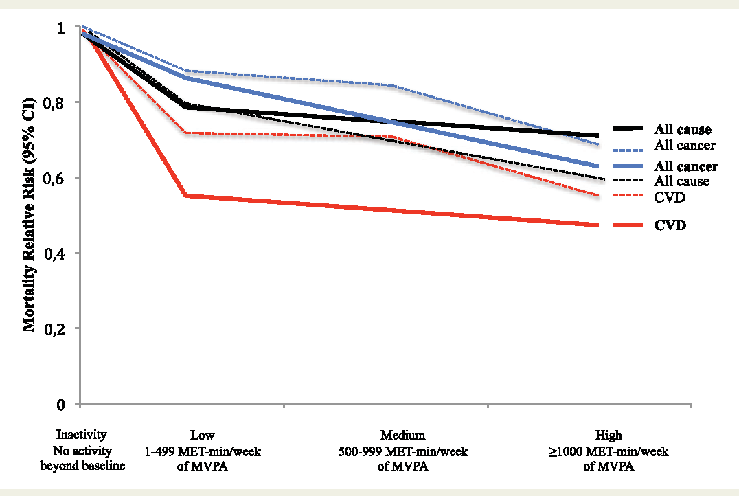 Figure 3 from Physical activity to reduce mortality risk