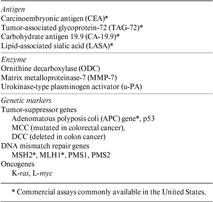 What S New With Tumor Markers For Colorectal Cancer Semantic Scholar
