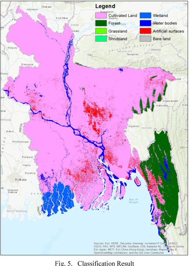 Land Use And Land Cover Classification For Bangladesh 2005 On